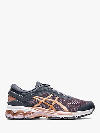 ASICS GEL-KAYANO 26 Women's Running Shoes, Metropolis/Rose Gold