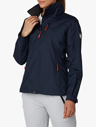 Helly Hansen Crew Hooded Midlayer Women's Waterproof Jacket, Navy