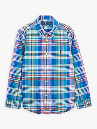 Polo Ralph Lauren Boys' Check Shirt, Blue