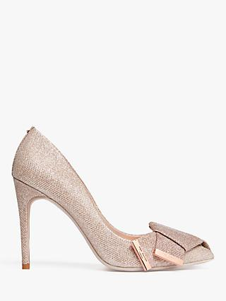 Ted Baker Iinesm Stiletto Heel Court Shoes, Gold