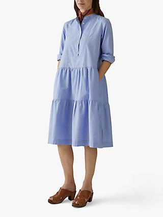 Toast Cotton Oxford Dress, Chambray