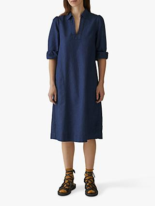 Toast French Stripe Smock Dress, Royal Blue