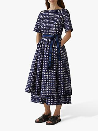 Toast Anni Print Poplin Dress, Ink