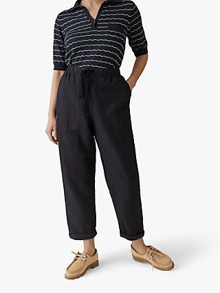 Toast Cotton Linen Trousers, Slate