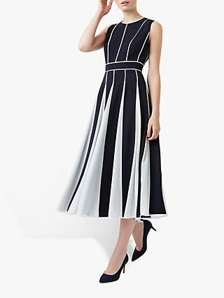 Hobbs Grace Dress, Navy/Ivory