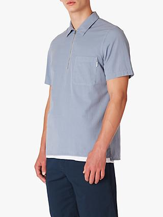 PS Paul Smith Casual Zip Front Shirt, Pale Blue