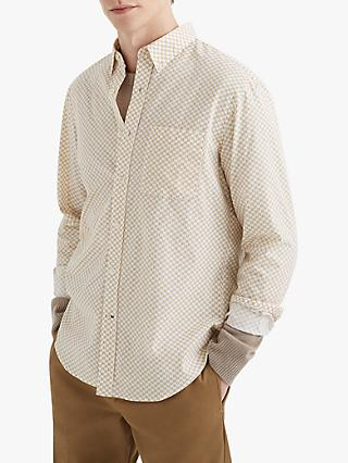 Club Monaco Slim Honeycomb Shirt, Yellow/White