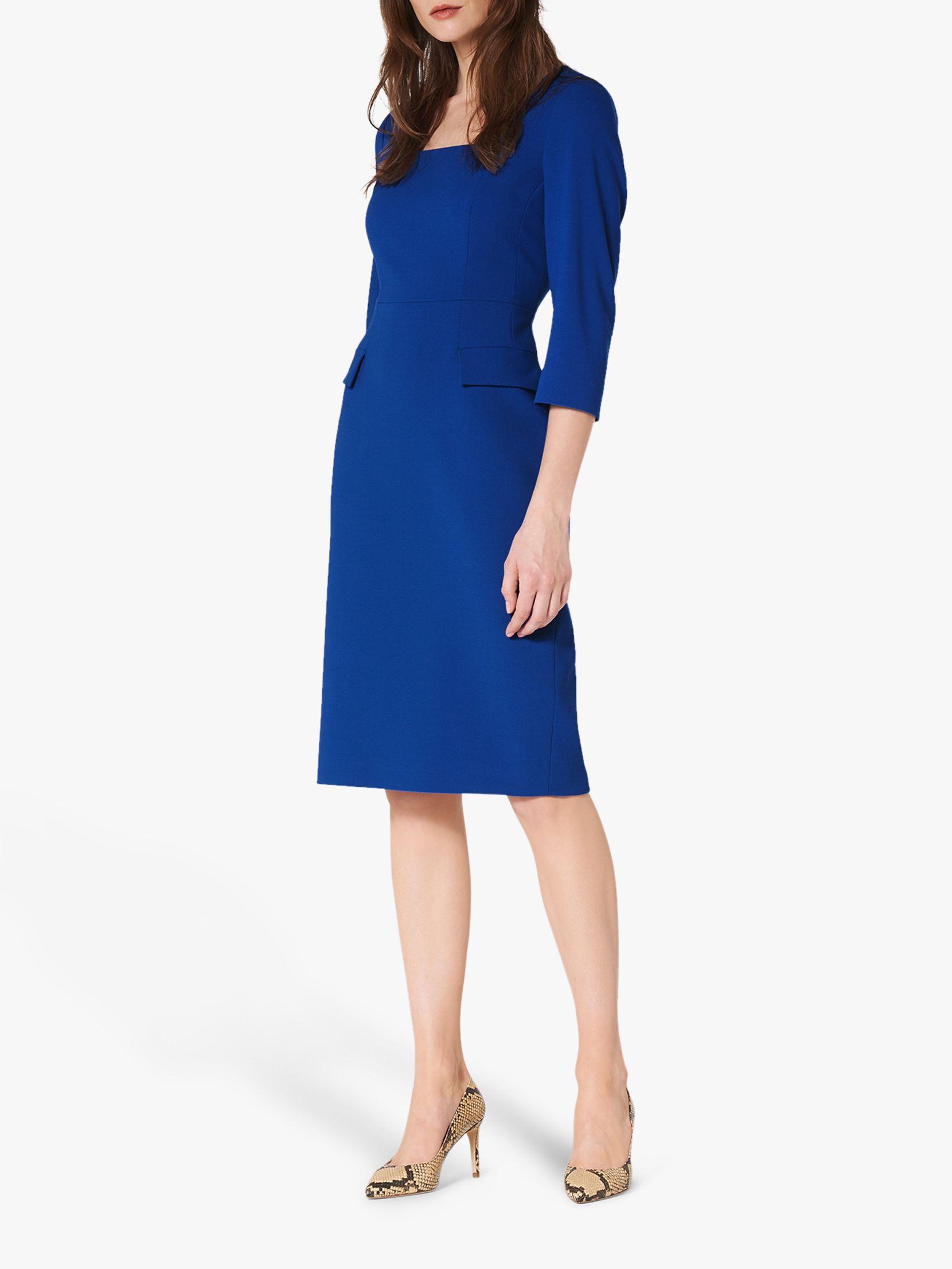 L K Bennett Ivor Pencil Dress Royal Blue At John Lewis Partners