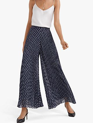 Club Monaco Jessyn Pleated Trousers, Navy Multi