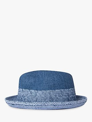 Paul Smith Two Tone Trilby Hat, Blue
