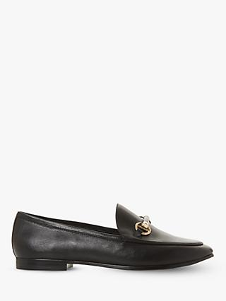 Dune Guiltt 2 Leather Snaffle Loafers, Black
