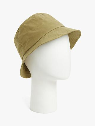 Barbour Irvine Waxed Cotton Bucket Hat, Mid Khaki Sand