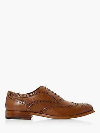 Dune Scholar Leather Brogues, Brown