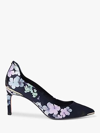 Ted Baker Jeriin Floral Court Shoes, Navy