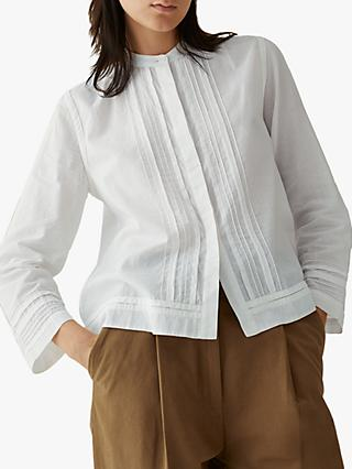 Toast Pure Cotton Pintuck Blouse, White