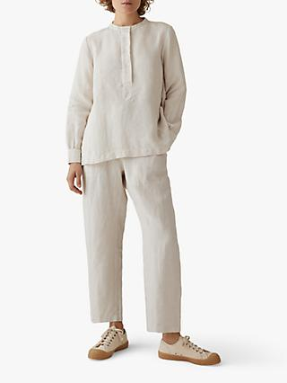 Toast Garment Dyed Linen Trousers, Natural