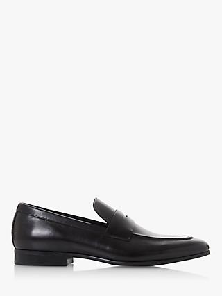 Dune Server Leather Loafers, Black