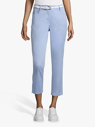 Betty Barclay Cropped Belted Jeans, Light Opal