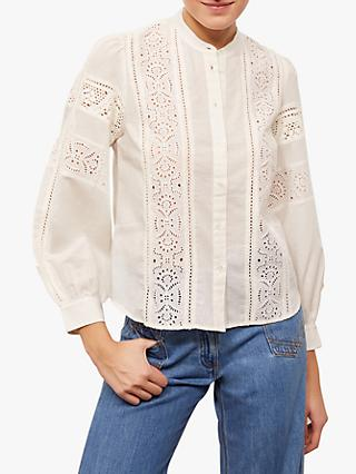 Gerard Darel Nellore Lace Blouse, White