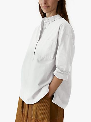 Toast Poplin Oversized Shirt, Pure White