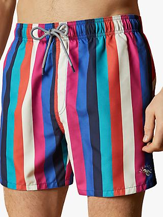 Ted Baker Series Stripe Print Swim Shorts, Multi