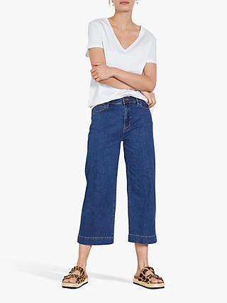 hush Moritz Cropped Jeans, Blue Authentic
