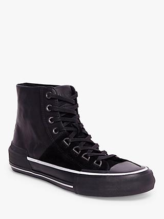 AllSaints Waylon High Top Leather Trainers, Black