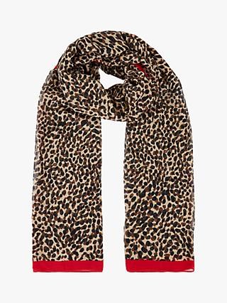 Hobbs Keira Animal Print Scarf, Multi