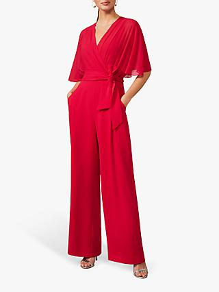 Phase Eight Munroe V Neck Jumpsuit, Fuchsia