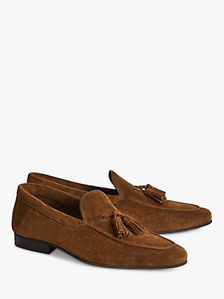 Reiss Larch Suede Tassel Loafers