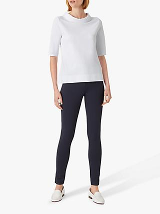 Hobbs Betsy Roll Neck Top, White