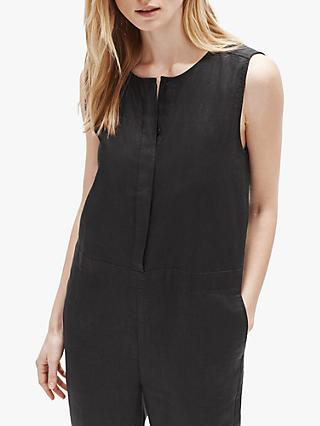 EILEEN FISHER Organic Linen Jumpsuit, Black
