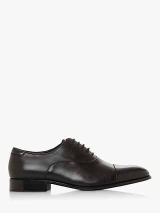 Dune Secret Leather Round Toe Oxford Shoes
