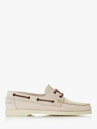 Bertie Baboon Nubuck Boat Shoes, Off White