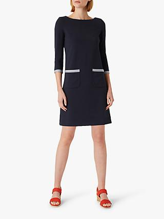 Hobbs Sorcha Shift Dress, Navy