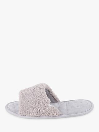 totes Textured Open Toe Slippers, Grey