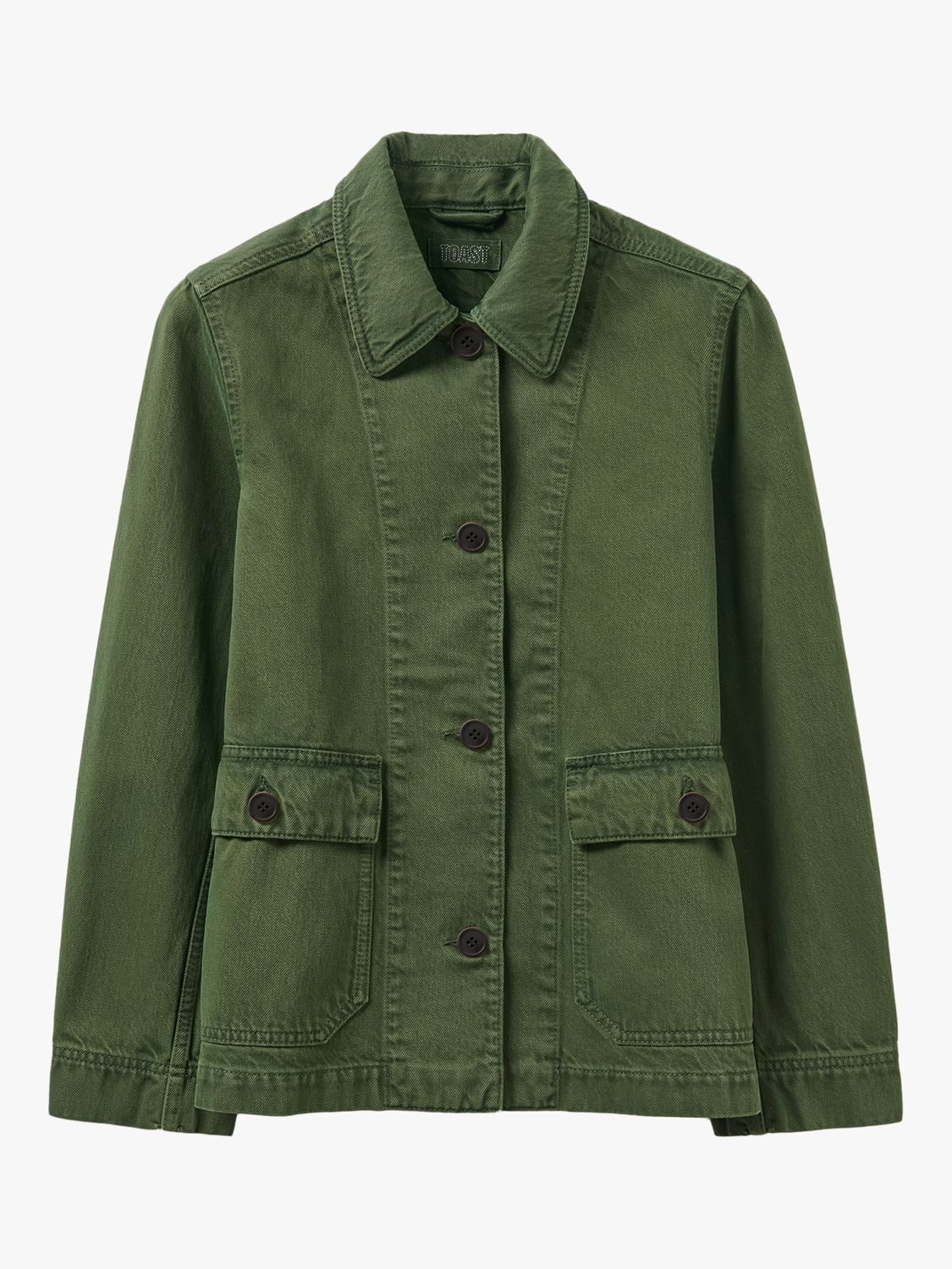 Toast Patch Pocket Denim Jacket, Green