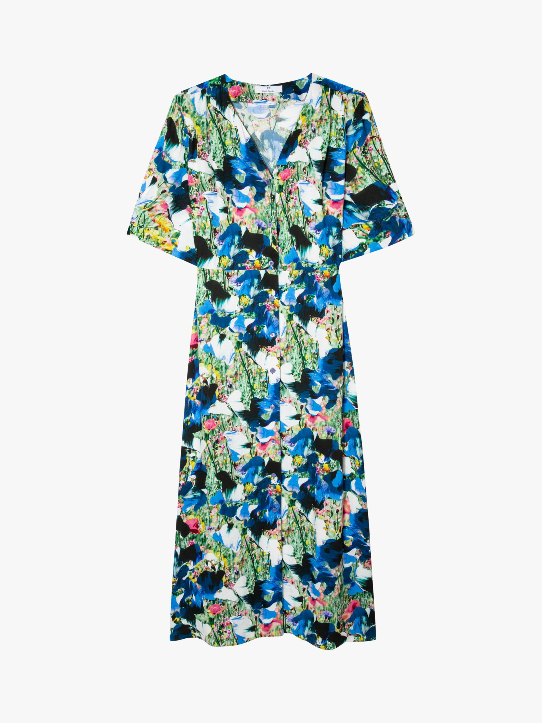 PS Paul Smith Floral Print Midi Dress, Multi