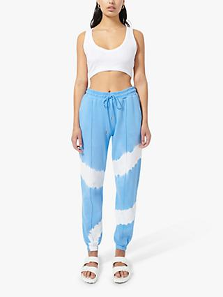 Ninety Percent Organic Cotton Circle Tie Dye Joggers, Cornflower/Optic White