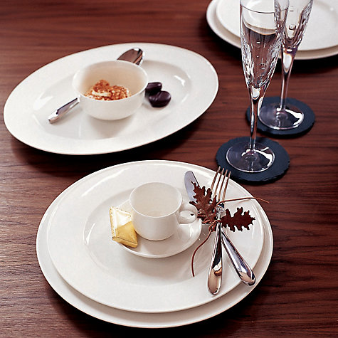 Buy Queensberry Hunt for John Lewis White Bone China Tableware Online at johnlewis.com
