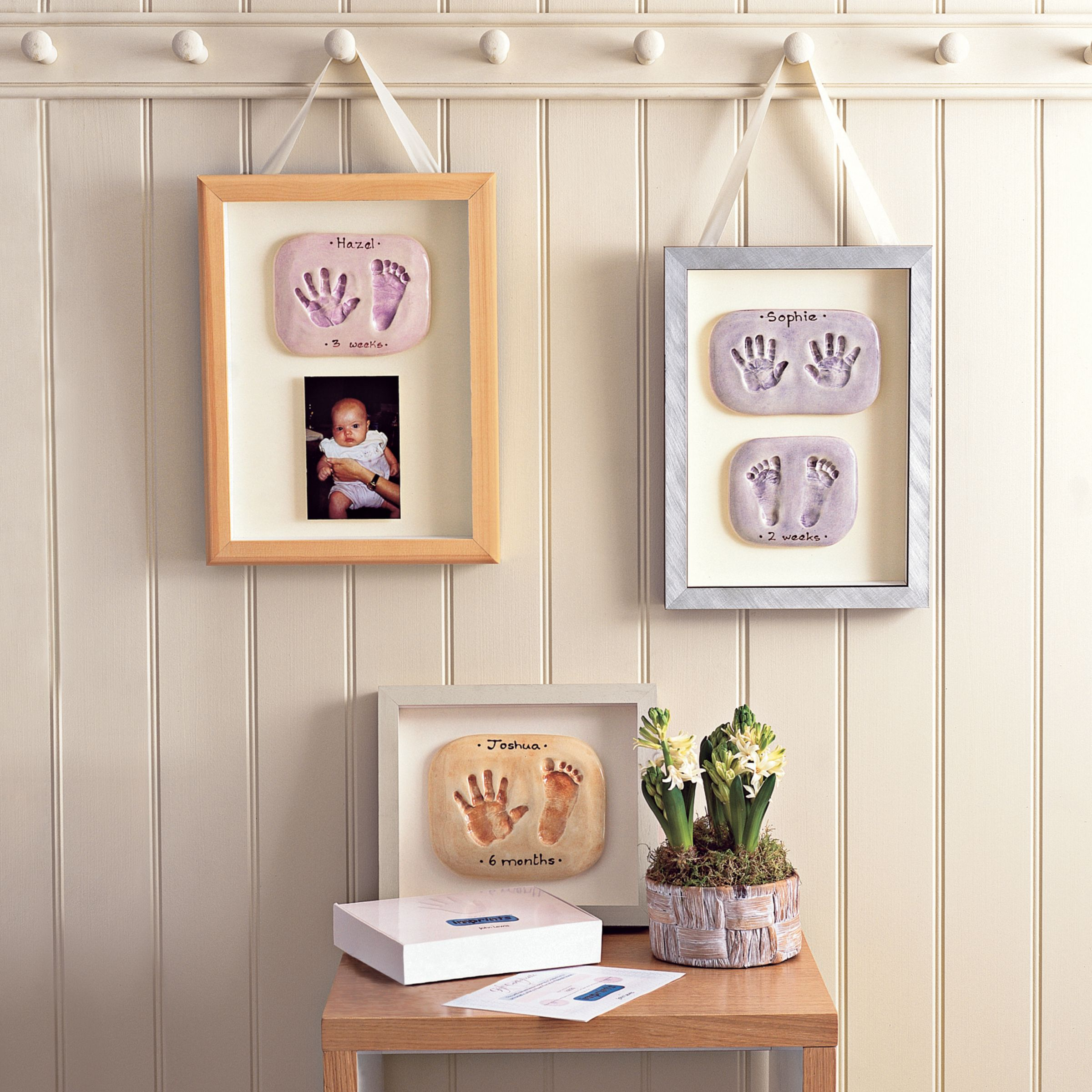 Imprints Gift Certificate, Double Print, Natural Pine Or Whitewash Frame