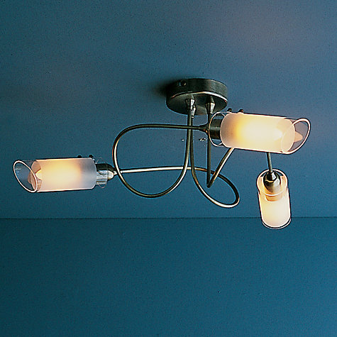 Buy John Lewis Limbo Ceiling Light, 3 Arm, Antiqued Brass Online at johnlewis.com