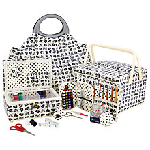 Buy John Lewis Monochrome Poppy Sewing & Knitting Range Online at johnlewis.com