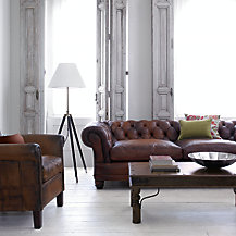 John Lewis Chatsworth and Camford Leather Sofa Range