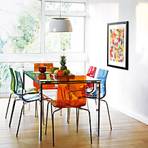 John Lewis Frost Dining Table and Gel Dining Chairs