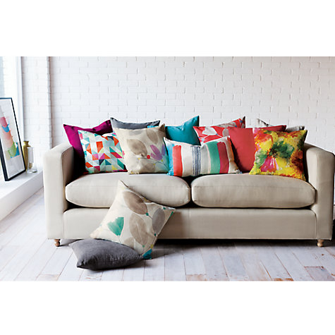 Buy John Lewis Brush Strokes Cushion, Multi Online at johnlewis.com