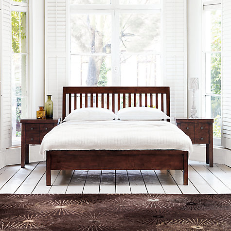 Buy John Lewis Kerala Bedstead, Rich Cherry, Double Online at johnlewis.com