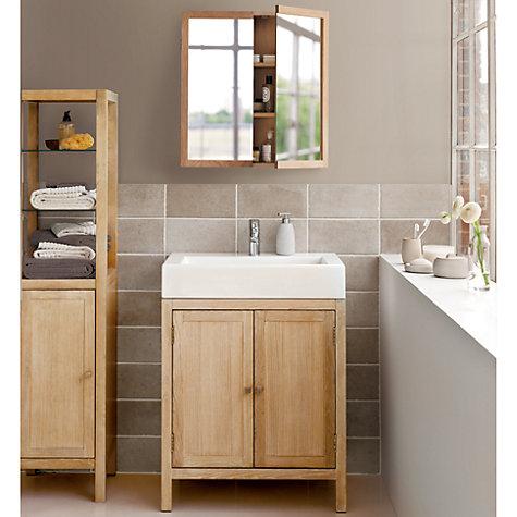 Cool Buy John Lewis St Ives Double Mirrored Bathroom Cabinet  John Lewis