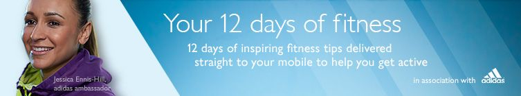12 days of inspiring fitness tips delivered straight to your mobile to help you get active