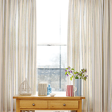Buy John Lewis Dalton Stripe Curtains, Mineral / Fennel Online at johnlewis.com